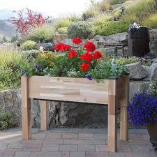 cedarcraft elevated self watering planter