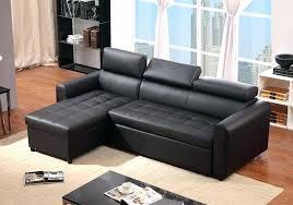 canape lit en cuir canape convertible cuir noir canapac dangle cuir noir racversible et