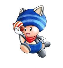 mario collab blue flying squirrel toad vince dixon deviantart