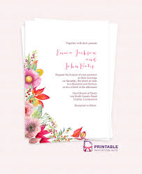 autumn blooms wedding invitation wedding invitation templates