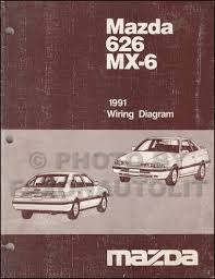 1991 mazda 626 u0026 mx 6 repair shop manual original