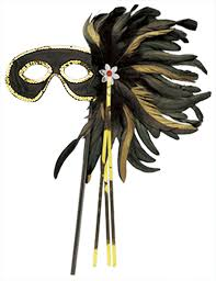 feather mask black and gold cocktail feather costume mask costume craze