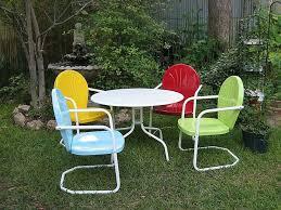 vintage metal lawn chairs best 25 vintage patio furniture ideas on