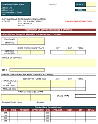 Address Template For Excel Contractor Invoice Template 6 Printable Contractor Invoices