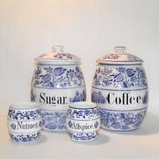 Blue Kitchen Canister Sets 28 Kitchen Canisters Blue 1930 S French Kitchen Blue