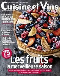recettes cuisine et vins de achat magazine cuisine et vins de n 181 en numérique