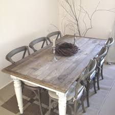 Shabby Chic Dining Table Set 6 Seats Brown Shabby Chic Kitchen Table Set Furniture