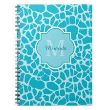 giraffe pattern notebook personalized giraffe print notebook zazzle com