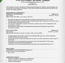 Perl Resume Sample by Impressive Ideas Web Developer Resume Template 15 Sample Writing