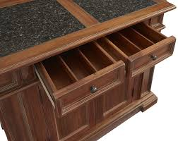 august grove collette kitchen island with granite top u0026 reviews