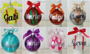 large personalized glitter ornaments