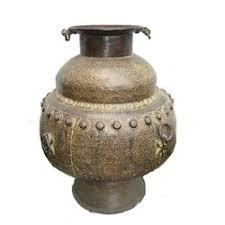 antique pot metal ls antique brass metal pot ravi s collection wholesale trader in