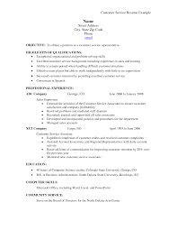 Resume Summary Statement Example by Resume Summary Of Qualifications Customer Service