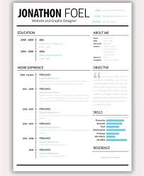 Creative Resumes Templates Free Psd Resume Template U2013 51 Free Samples Examples Format Download