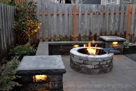 Patio Wall Lighting Paver Patio Seat Wall Pit Outdoor Lighting Landscaping