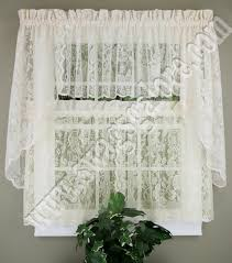 Lace Valance Curtains Lace Curtains United Jabot Swag Kitchen