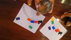 toddler approved simple rainbow train craft for kids