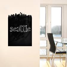 seattle skyline chalkboard wall decal walls need love touch of seattle skyline chalkboard wall decal