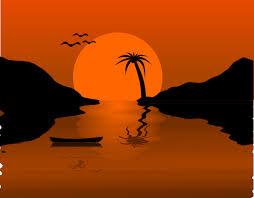 sunset water scene clip art at clker com vector clip art online