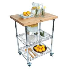 kitchen carts metropolitan wire cart maple top w chrome wire