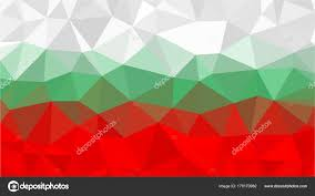 Green Red And White Flag Bulgarian Flag Low Poly Triangle Style White Green Red Flags