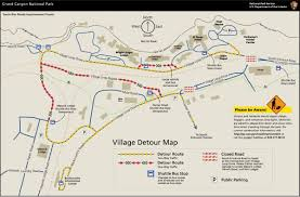 Arizona Road Map South Rim Construction Zones And Projects Grand Canyon National