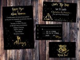 harry potter wedding invitations gold foil harry potter always wedding invitation save the date
