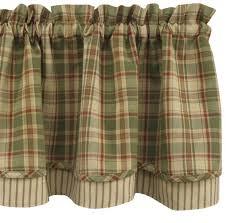 Country Plaid Valances Green Plaid Curtains Curtains Wall Decor