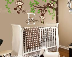 Nursery Monkey Wall Decals Quality Vinyl Decals For An Amazing Decoration By Secretofthecat