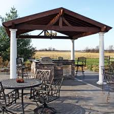Outdoor Patio Grill Island Outdoor Rooms Family Leisure