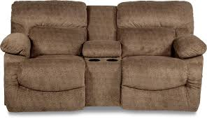casual la z time full reclining loveseat with cupholder console
