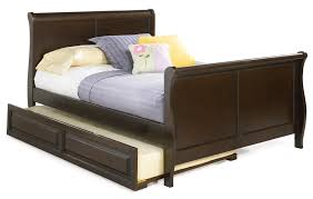 girls trundle bed sets dark brown wooden trundle bed frame with headboard and footboard