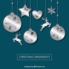 background of silver ornaments vector free