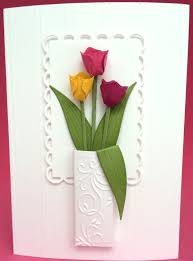 all occasion 3d tulips in a vase card handmade card birthday