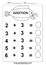 addition worksheets preschool free worksheets library download