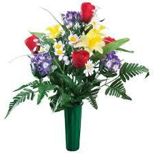 memorial flowers kimball artificial memorial flower bouquet walmart
