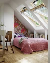 bed ideas wonderful small attic bedroom design with large window