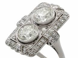 antique art deco diamond ring diamond rings for sale ac silver