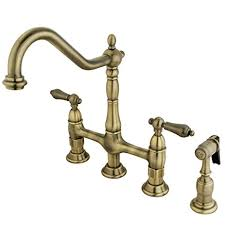 kitchen faucet 3 kingston brass ks1273albs heritage kitchen faucet with brass