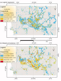 Gold Line Map Final Prospectivity Maps For Orogenic Gold In The Central Lapland
