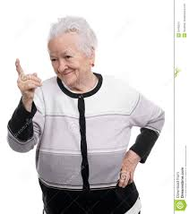 Pointing Meme - portrait of a happy old woman pointing upwards stock image image