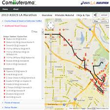 Dodger Stadium Parking Map La Marathon 2016 Road Street Closure And Traveler Information