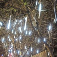 30cm 144 led lights 8 meteor shower snowfall tree garden
