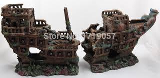aquarium decoration ship wreck artificial craft aquarium ornament