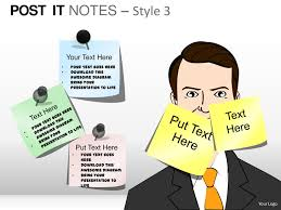 post it notes style 3 powerpoint presentation templates