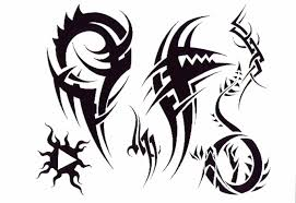 tattoos for men black and white outline tribal tattoo outlines
