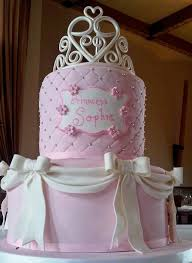 two tier pink birthday cake with white bows for jpg