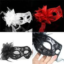 lace masquerade masks for women hot sale black white women feathered venetian masquerade