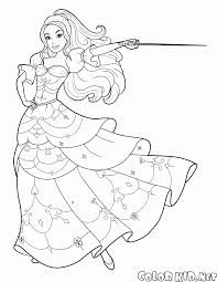 coloring page barbie and the sword
