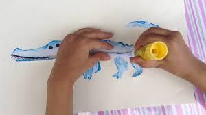 invisible alligator art u0026 craft idea for kids youtube
